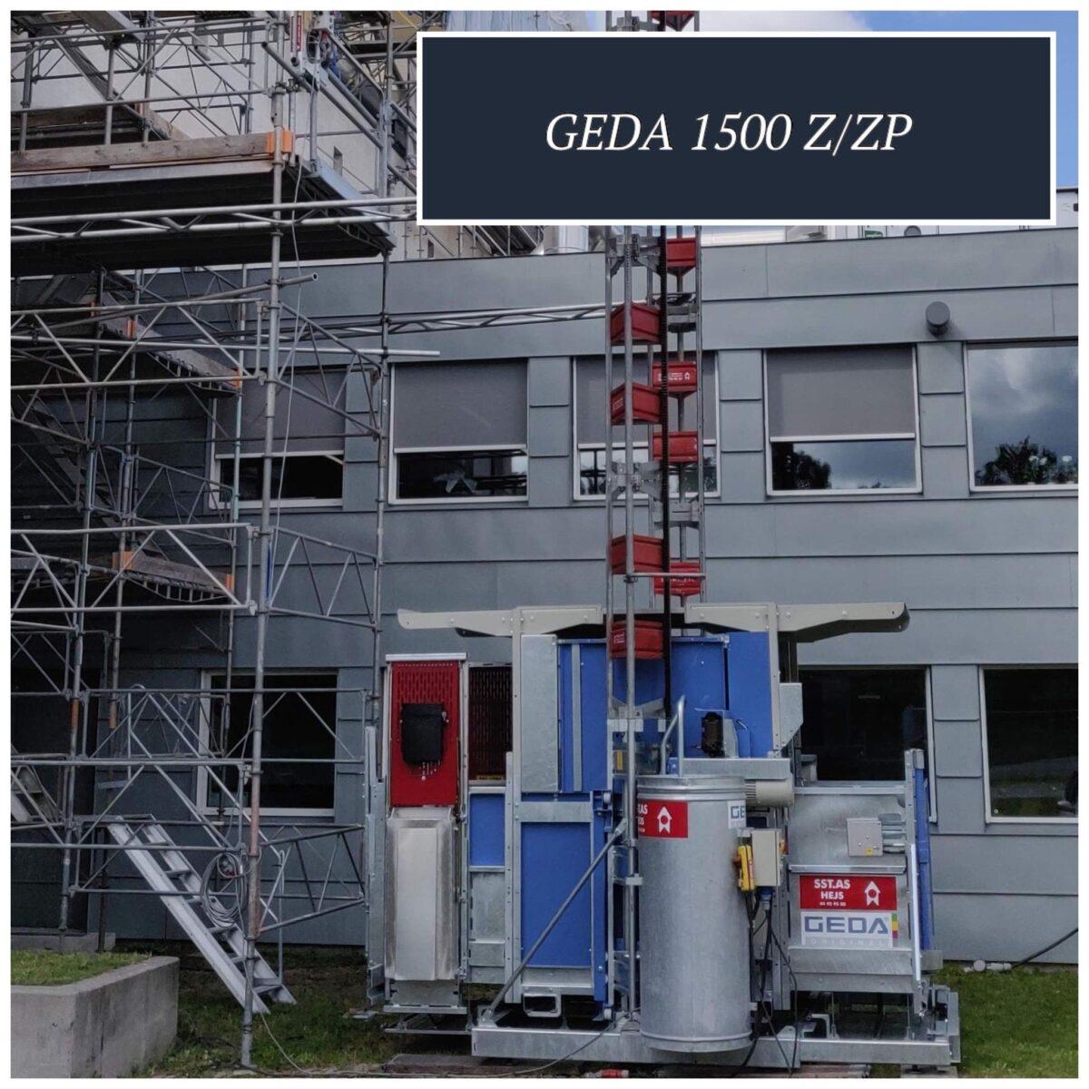 GEDA 1500 Z ZP er et stærkt hejs, der kan løfte meget og mange. Hejset har en løftekapacitet på 2 ton