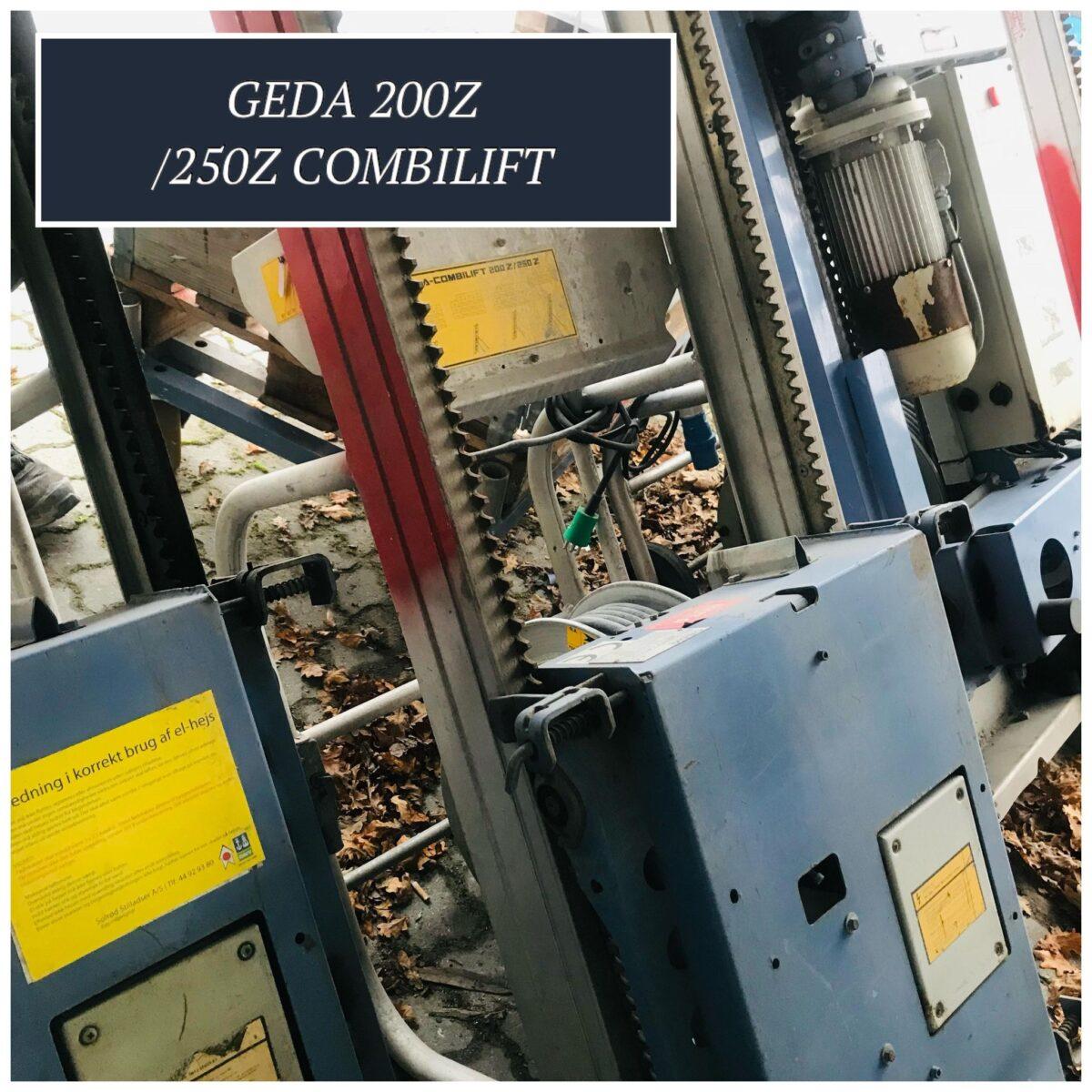 Materialeelevator - GEDA 200 Z combilift - hejs til transport af materialer