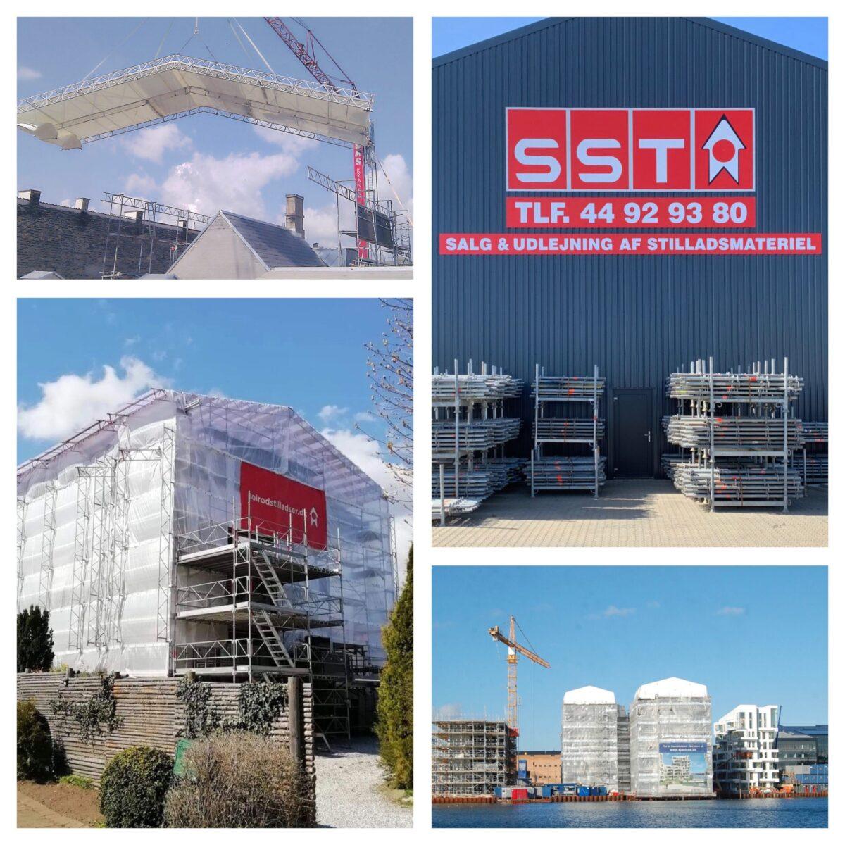 Solrød Stilladser og SST tilbyder montering og salg af grej i systemstilladser