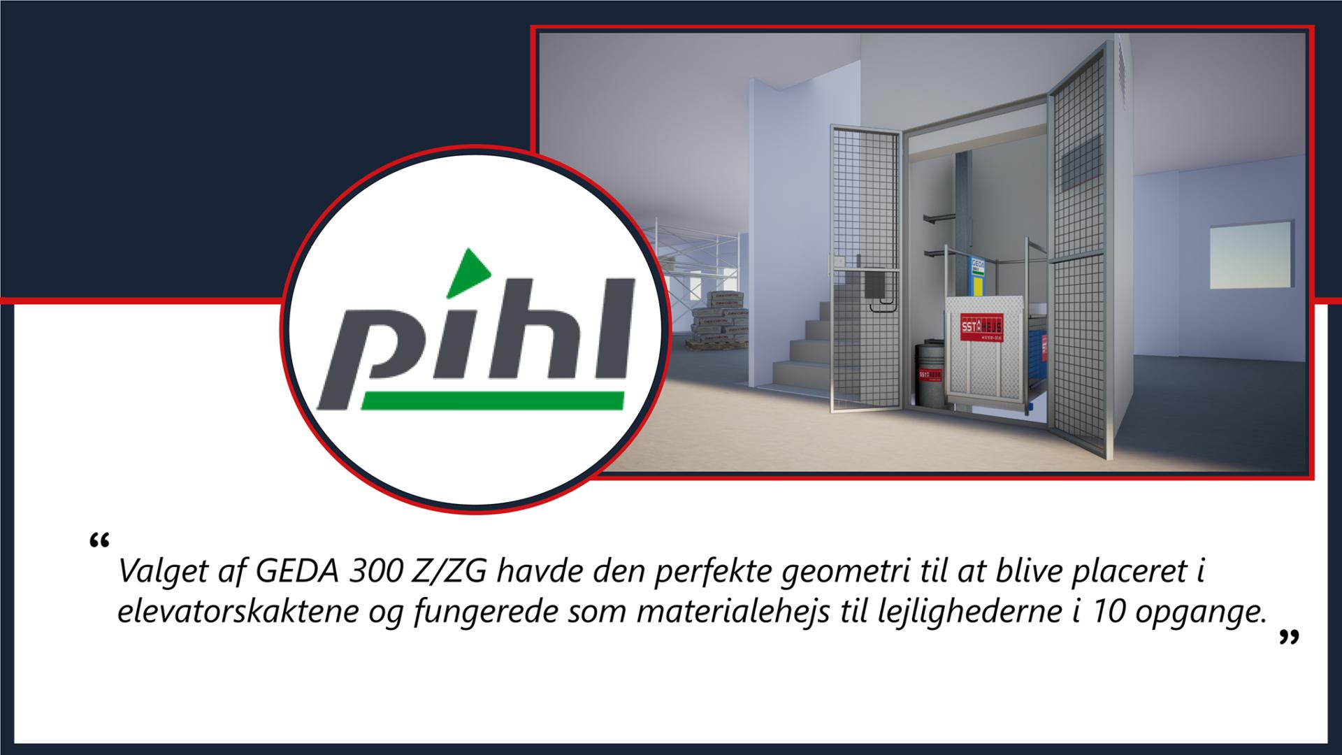 Pihl og søn lejede GEDA 300 Z ZG skakthejs til Teglholm Brygge af SST HEJS 2020