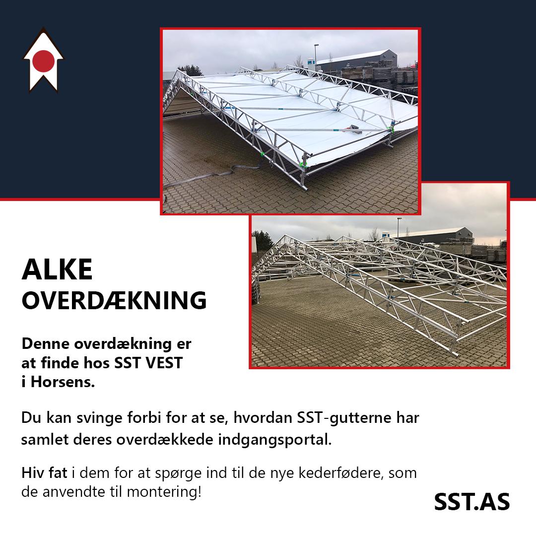 Overdækning med anvendt kederføder hos SST VEST i Horsens