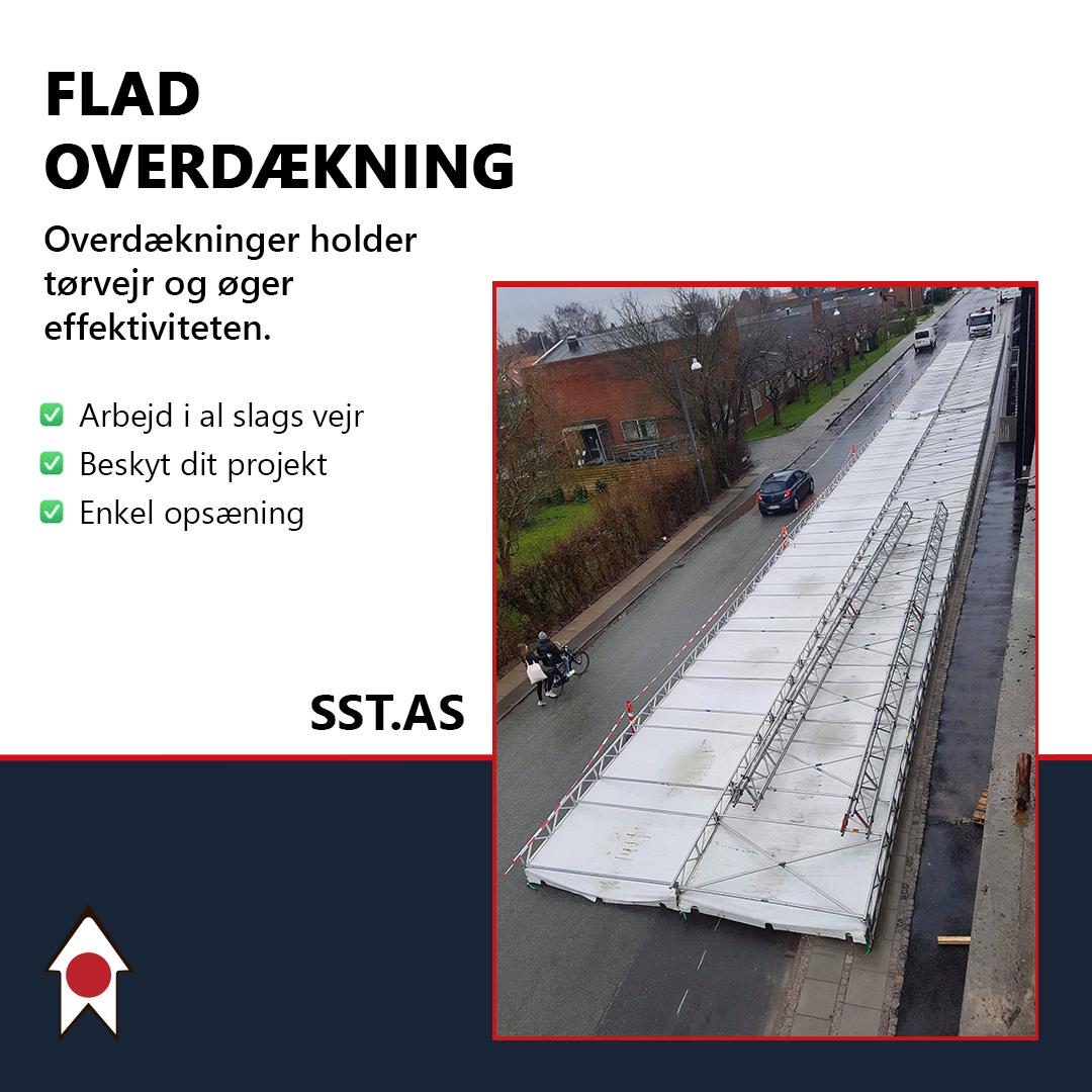 Flad overdækning af Solrød Stilladser SST.as